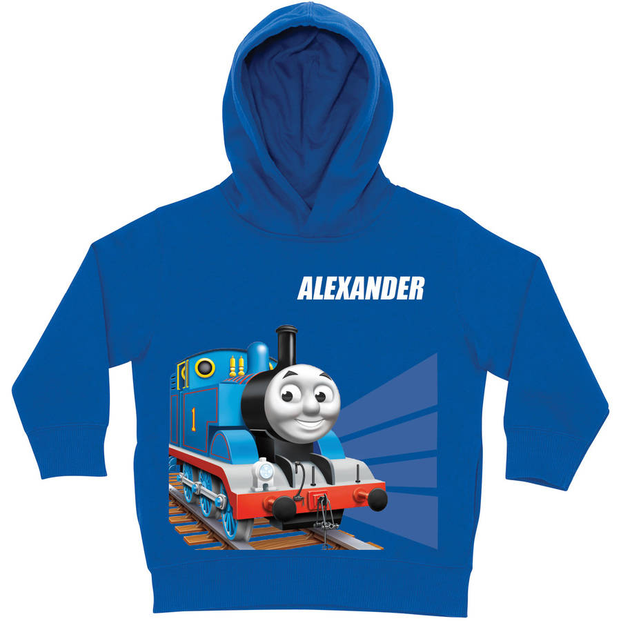 Personalized Thomas & Friends Tracks Royal Blue Toddler Boy Hoodie