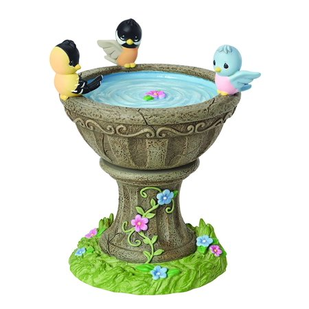 Precious Moments Rotating Birdbath Figurine Music Box 154107