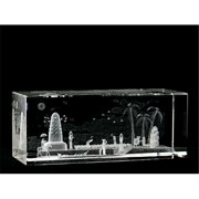 Asfour Crystal 1159-120-116 4.75 L x 2 H x 2 W in. Crystal Laser-Engraved Countryside Miscellaneous Laser-Cut