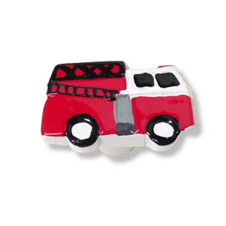 Charming Handpainted Resin Fire Truck Knob LQ-P25305T-RES-C