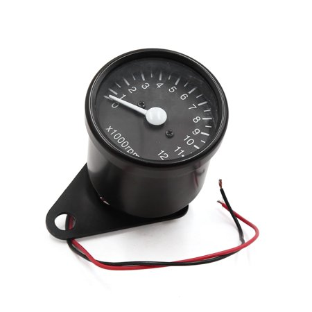 Universal Rotating Single Speedometer Gauge Meter Black for Motorcycle Scooter