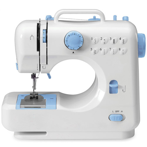 Michley Lil' Sew & Sew 8-Stitch Desktop Sewing Machine with Metal Frame