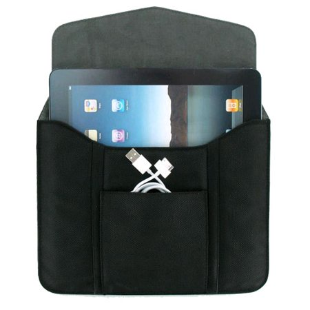 Verizon Universal Tablet Sleeve with Pouch for iPad, iPad 2, iPad 3, iPad 4, Galaxy - 10.1 Slip Fit Sleeve