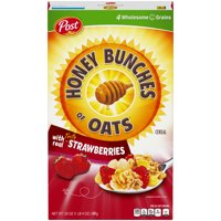 Post, Honey Bunches Of Oats Breakfast Cereal, Strawberry, 20 Oz