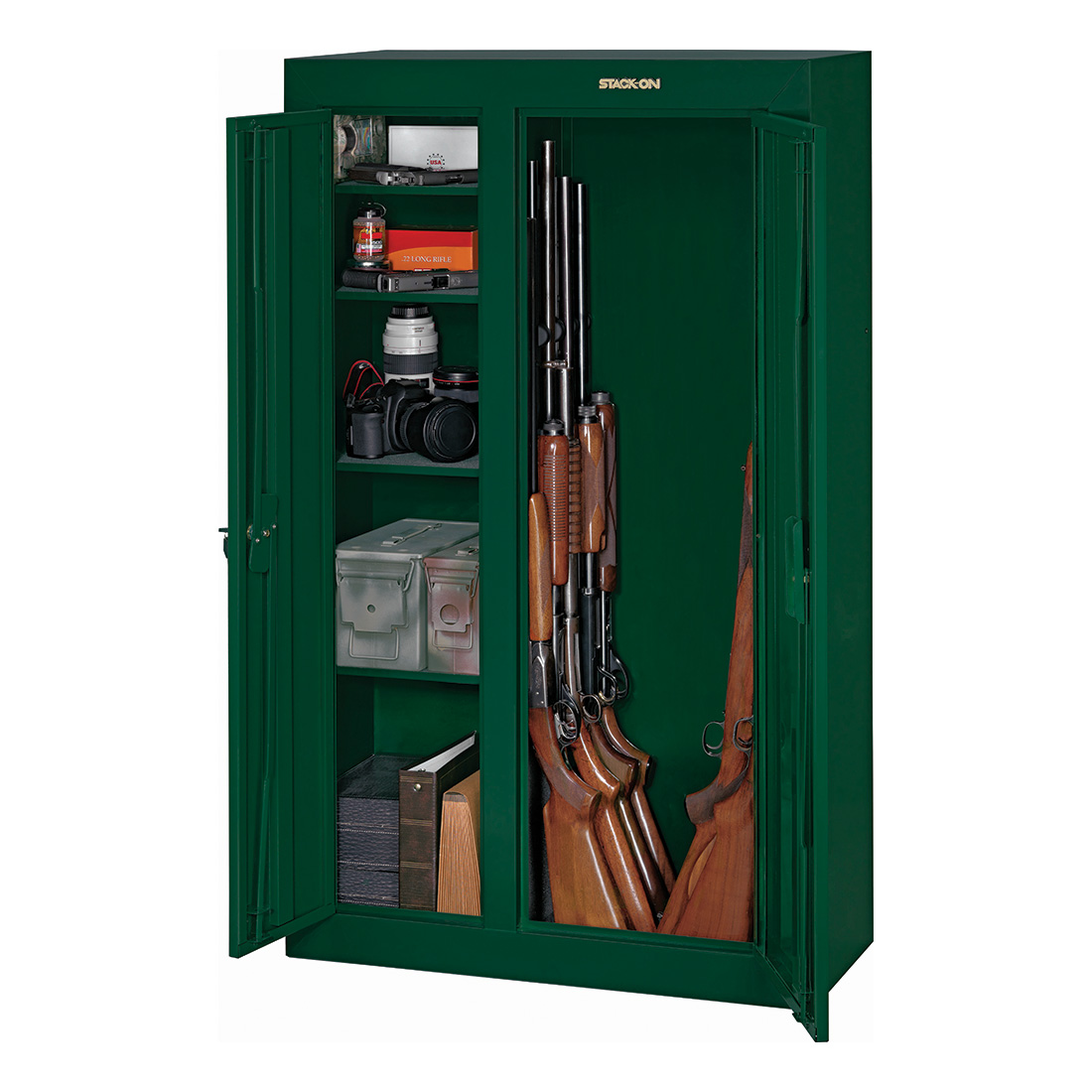 Stack-On 10 Gun Double Door Security Cabinet, Hunter Green ...
