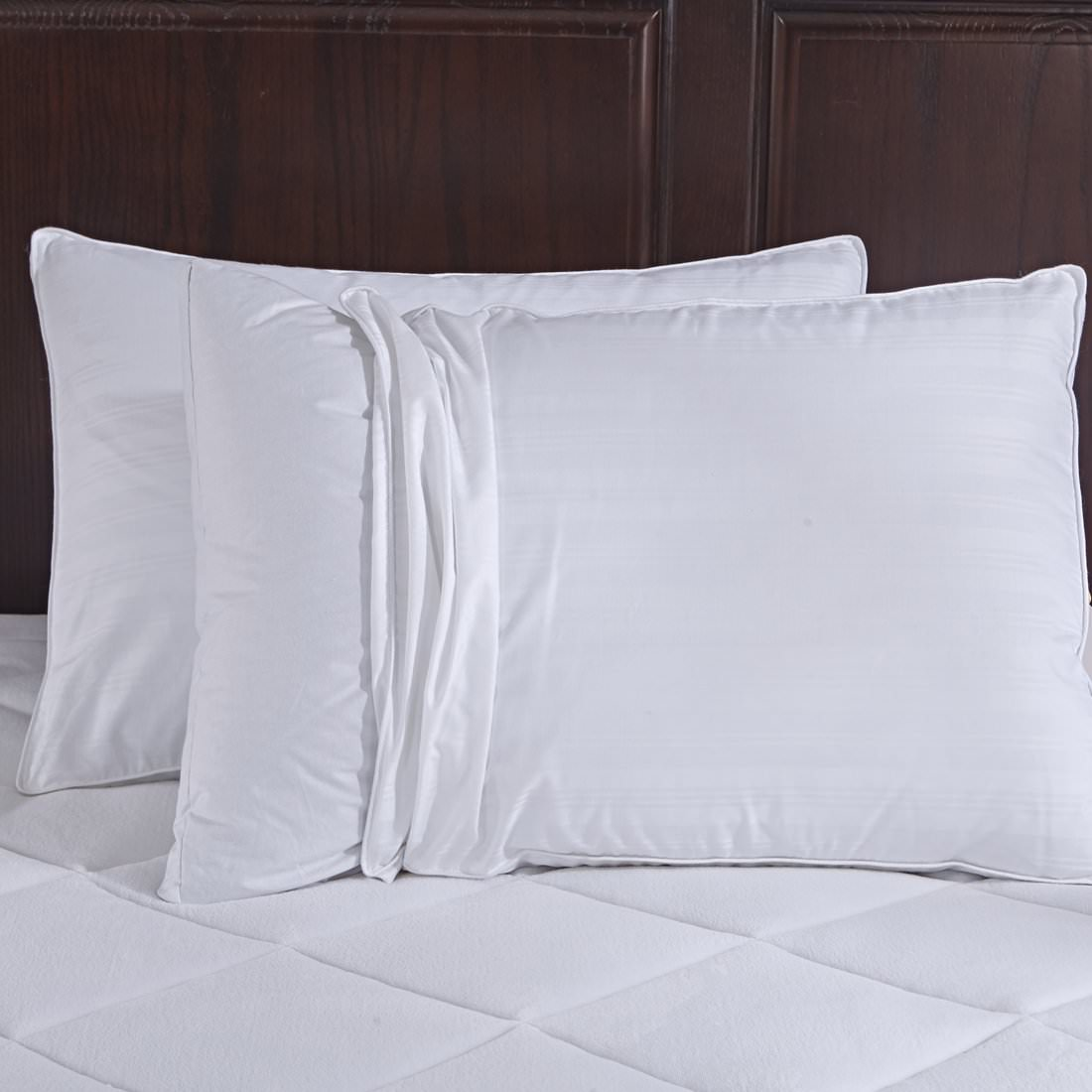 Puredown 600 Fill Power Goose Down Gusset Pillow, With 2 Free Pillow Protectors, 100%... by Pure Down