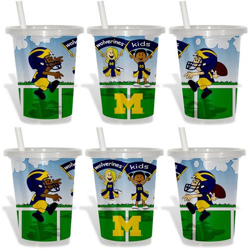 Baby Fanatic NCAA 2-Pack 10oz Sip & Go, University of Michigan Wolverines, BPA-Free