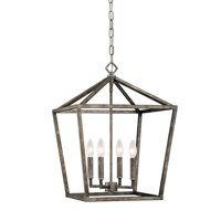 Millennium Lighting 3244-AS Corona Pendant Light In Antique Silver