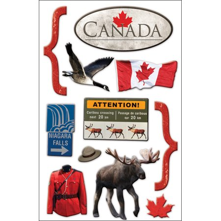 """Paper House 3D Stickers 4.5""""x8.5""""-Canada - image 1 of 1"""