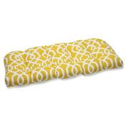 Pillow Perfect Outdoor/ Indoor New Geo Orange Wicker Loveseat Cushion