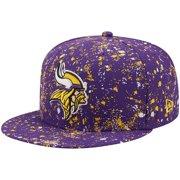 Minnesota Vikings New Era Splatter 9FIFTY Snapback Hat - Purple - OSFA
