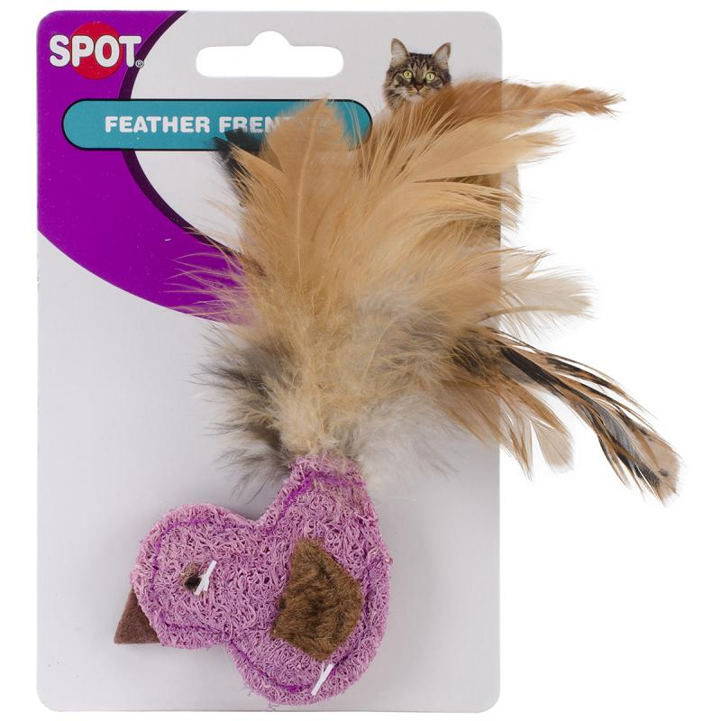 Feather Frenzy Cat Toy-duck, Fish Or Butterfly With Feathers