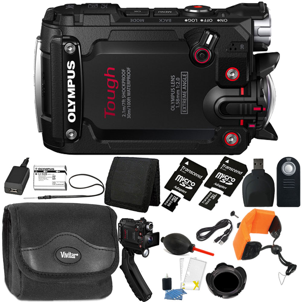 New Olympus TG-Tracker Action Camera Black with 24GB Top ...