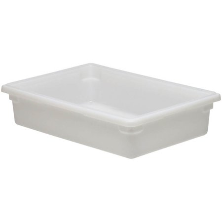 cambro rectangle full size food storage box white gal 26 length x 18 width x 6 depth. Black Bedroom Furniture Sets. Home Design Ideas