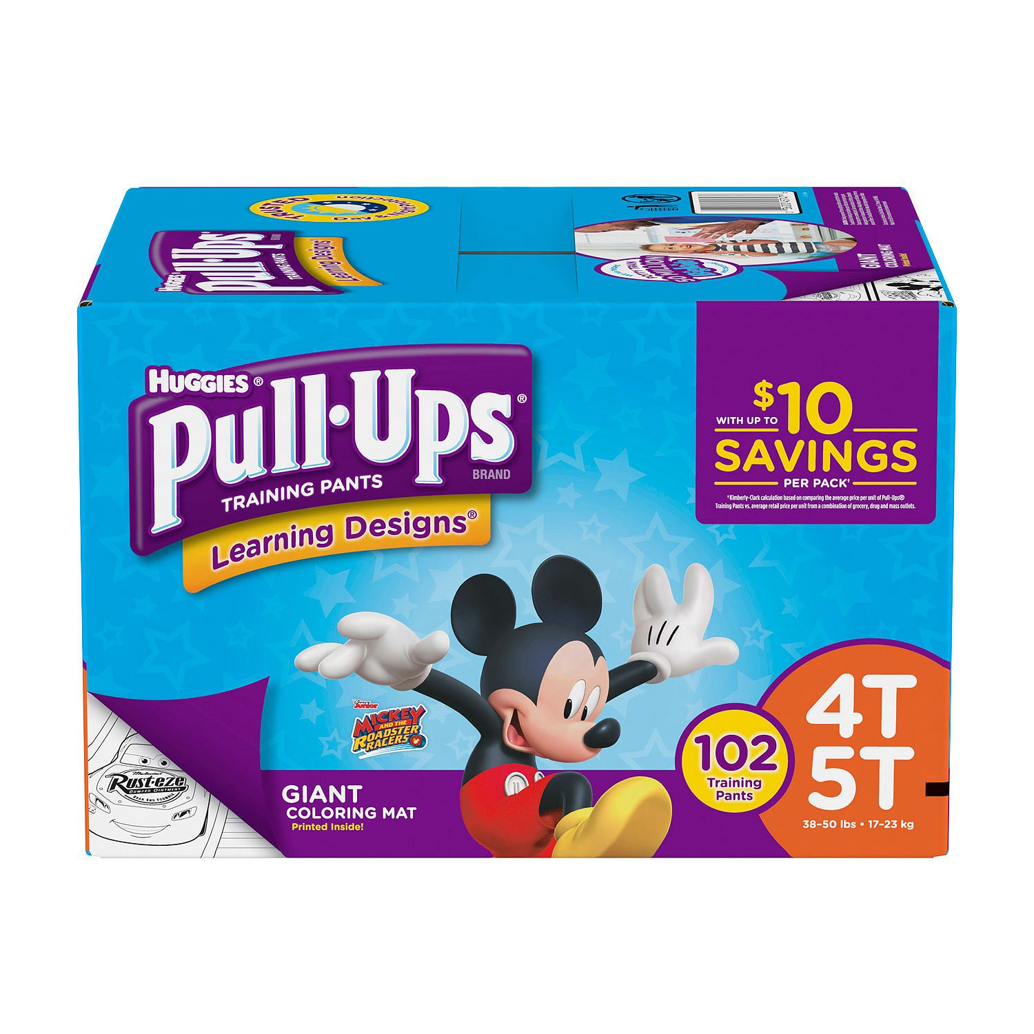 Huggies Pull-ups Training Pants for Boys Size 4T/5T Boys ( Weight 102 ct.) - Bulk Qty, Free Shipping - Comfortable, Soft, No leaking & Good nite Training Pants