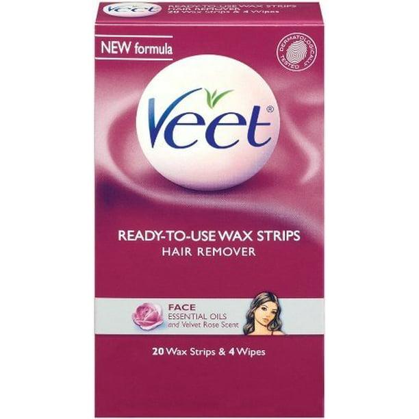Veet Cold Wax Strips Face 20ct Walmart Com Walmart Com