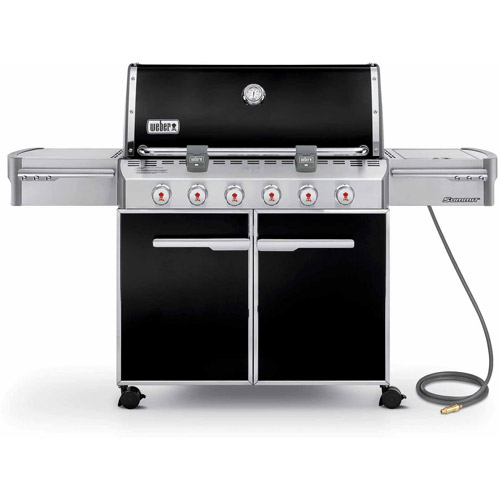 Weber Summit E-620 Natural Gas Grill, Black