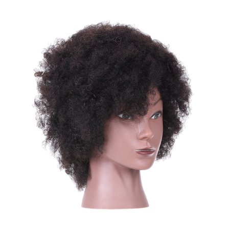 Afro Mannequin Head Hairdressing Training Head for Practice Styling Braiding African American Dummy Head with 100% Human Hair (Types Of Braids For African American Hair)