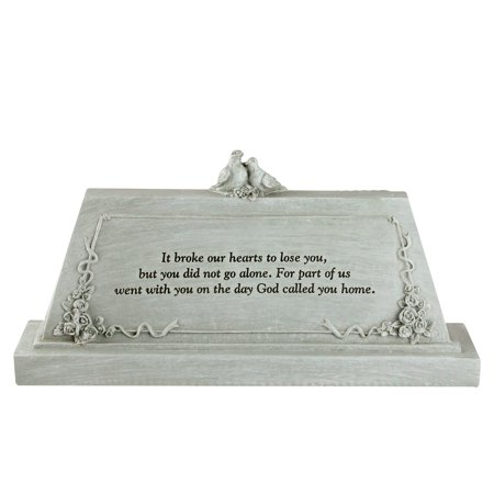 """9"""" Forever with the Angels Religious Script Decorative Bereavement Table Top Plaque"""