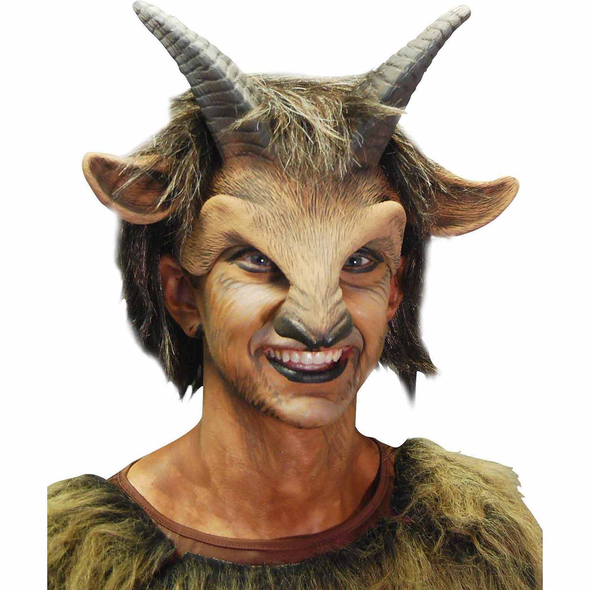 Male Goat Headpiece Adult Halloween Costume Accessory