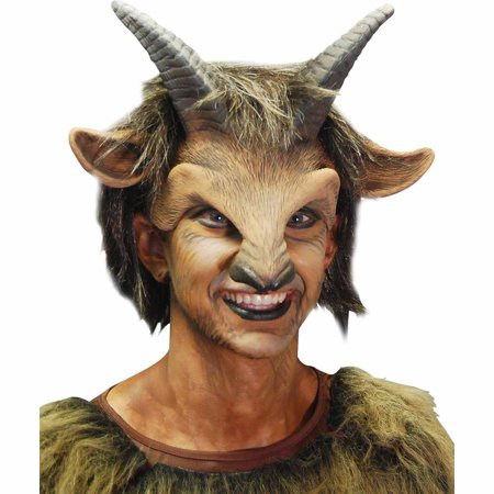 Male Goat Headpiece Adult Halloween Costume - Billy Goat Costume