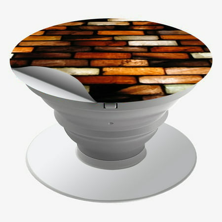 Skin Decal For Popsockets (4-Pack Decals Only) Cover / Stained Glass Bricks Brick - Brick Tamland Glasses