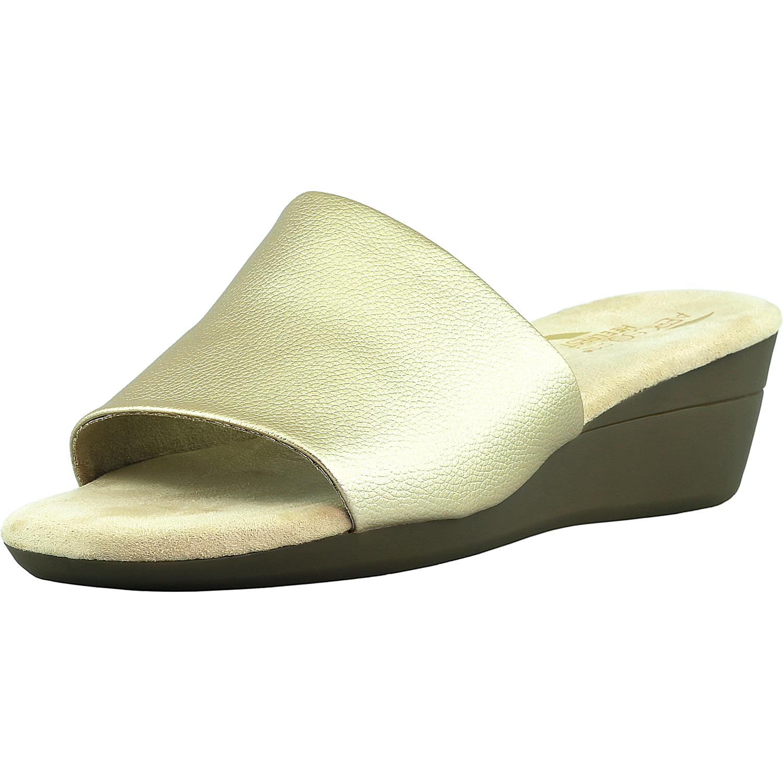 Aerosoles Women's Florida Faux Leather Gold Low Top Sandal 8.5M by Aerosoles