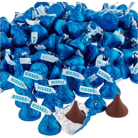 Kisses Milk Chocolate Candy Dark Blue Foil  4 1 Lb   Online Only