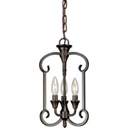 Forte Lighting 7000-03 Three Light Foyer Pendant