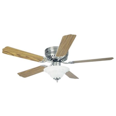 727339 52 in. 5 Blade with 2 Light Ceiling Fan, Brushed Nickel