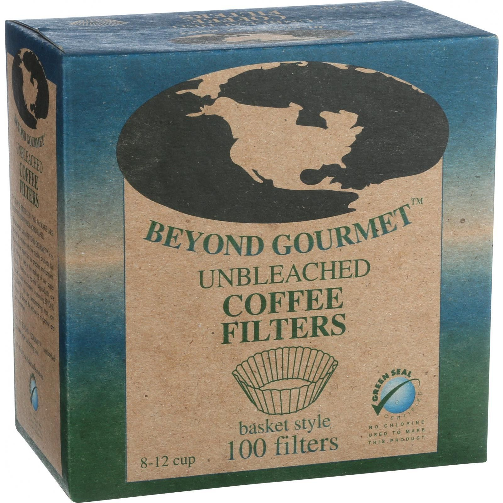 Beyond Gourmet Coffee Filters - Basket - Unbleached - 100 Count