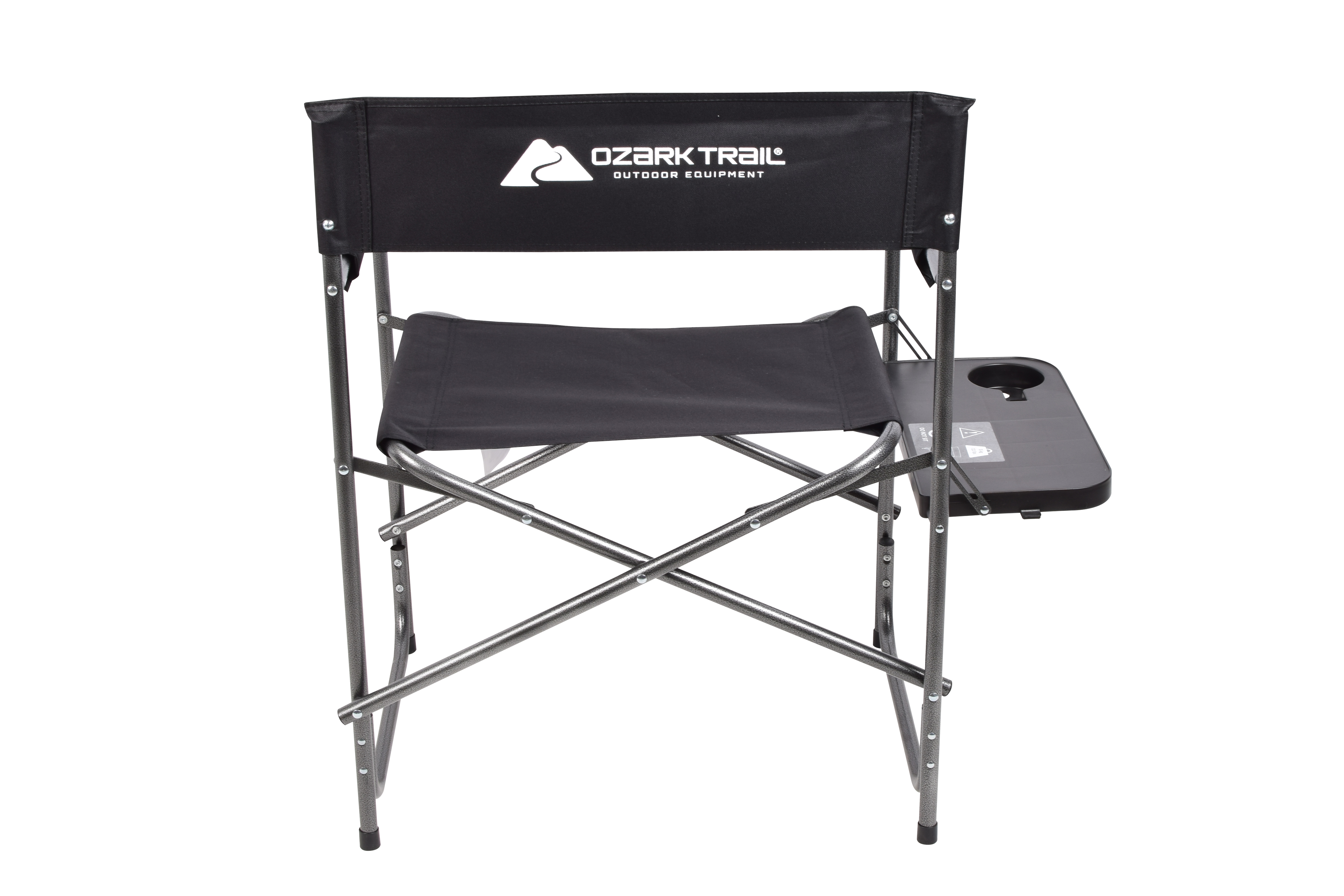 Ozark Trail Director S Chair With Foldout Side Table Black