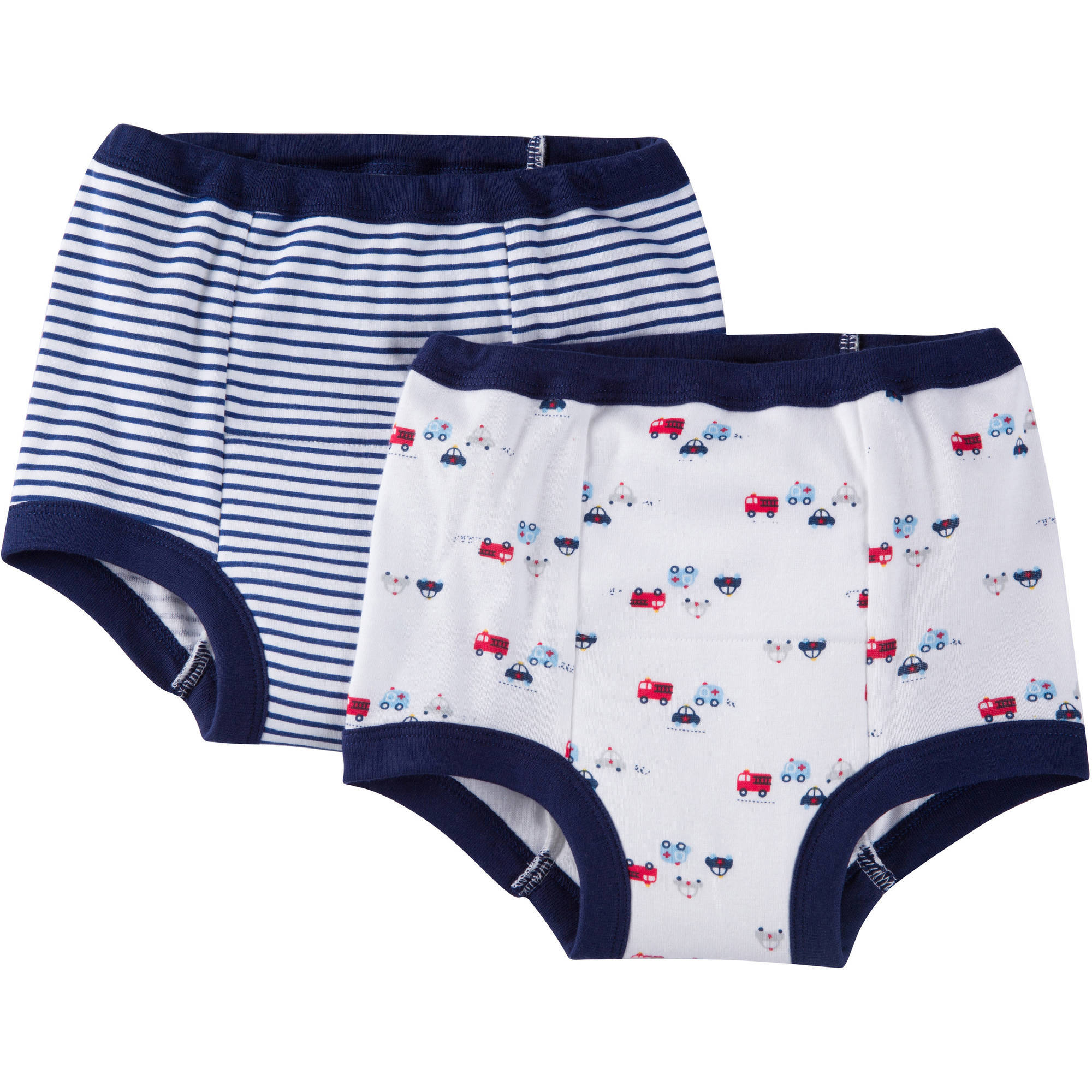 Gerber Baby Toddler Boys Firetruck 100% Cotton Training Pants, 2-Pack
