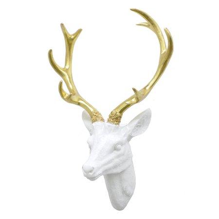 Three Hands Co  Resin Deer Head Wall D Cor