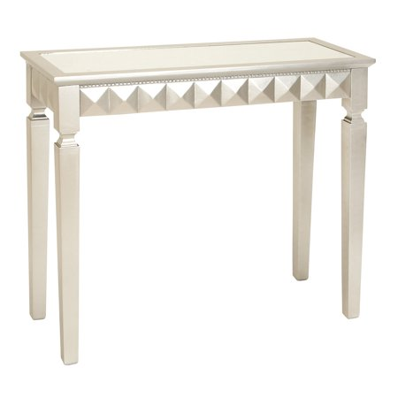 Decmode Modern Art Deco Wood and Mirror Console Table, White](Art Deco Table)