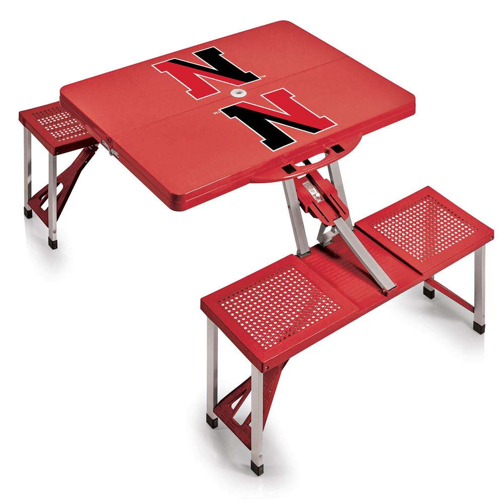 Northeastern University Huskies Portable Folding Tailgate Picnic Table by Picnic Time