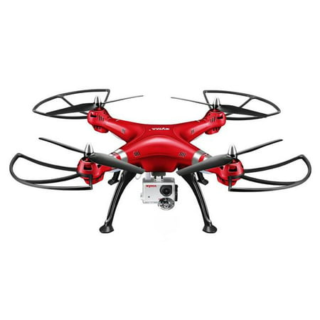 Azimport X8HG Syma X8HG New Altitude Hold Mode Headless RC Quadcopter with 8 MP Camera - Red