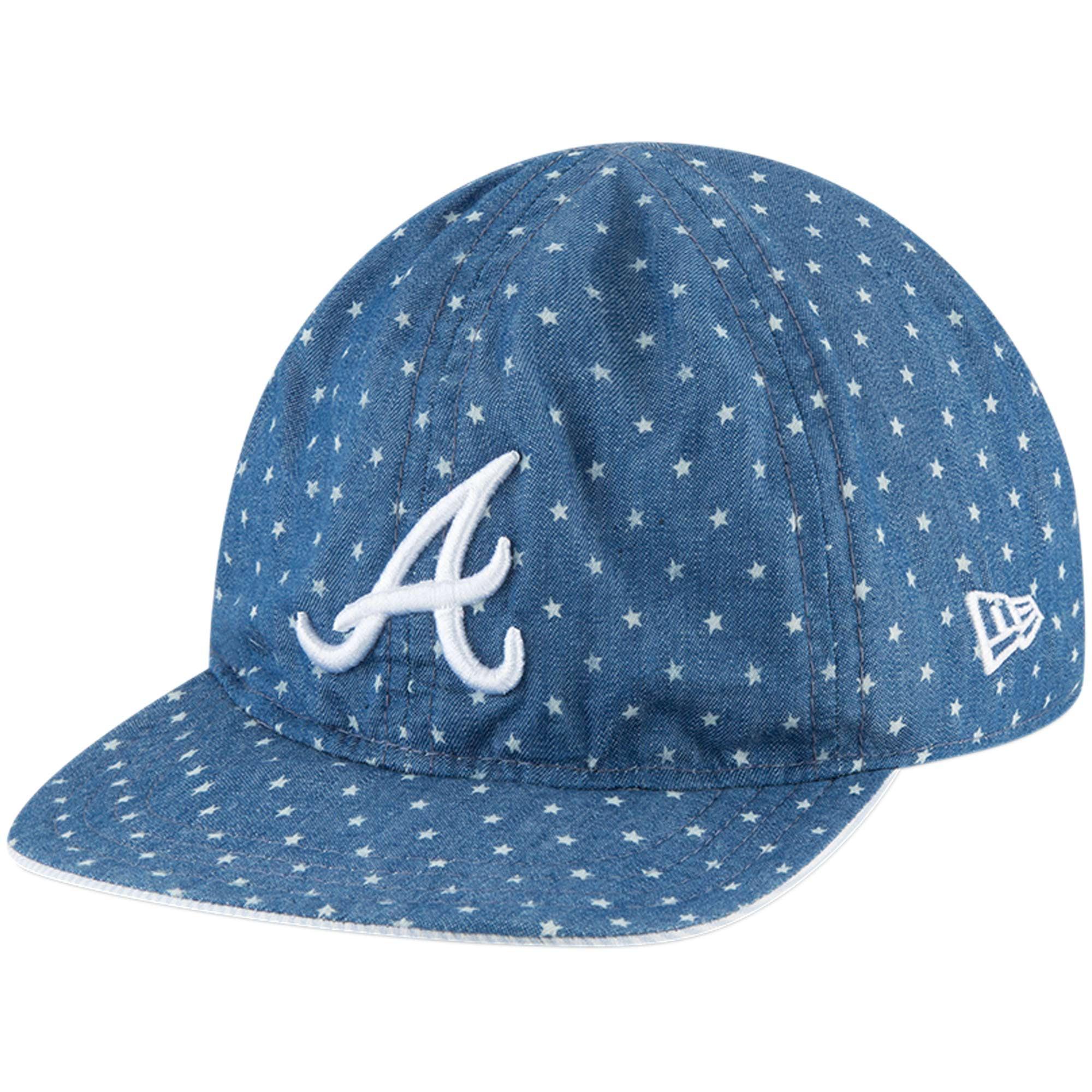 Atlanta Braves New Era Toddler Flip 9TWENTY Adjustable Hat - Denim - OSFA