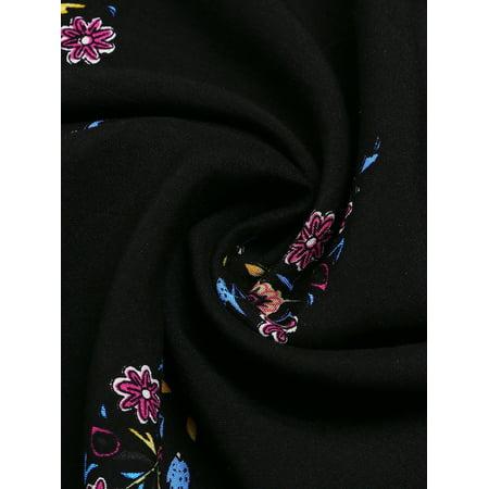 Womens Casual Floral Printed Rayon Mini Dress Loose Long Tops - image 2 de 9