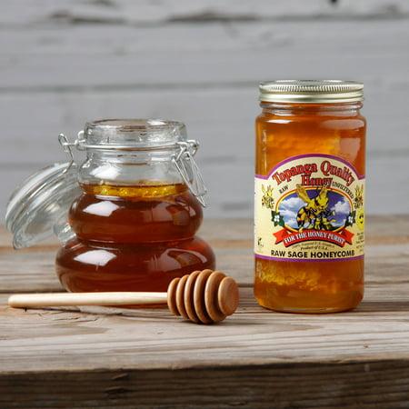 Honey Pearl Set (Bennett's Honey Farm Topanga Quality Raw Sage Honey and Honeycomb (Set of 2) )