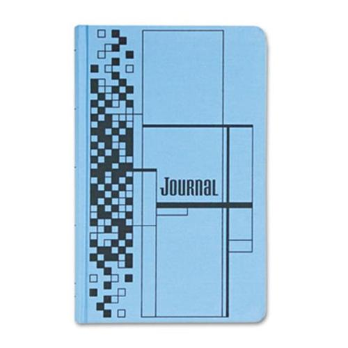 Adams Business Forms Journal Book, Blue Cloth Cover, 500 Pages, 7 1/2 x 12