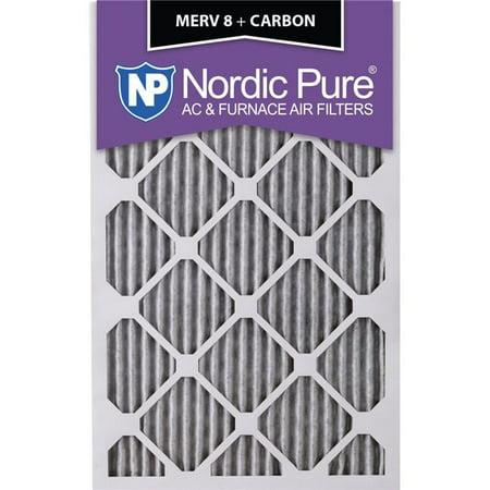 Nordic Pure 15x25x1ExactCustomM8PlusC 6 Exact MERV 8 Plus Carbon AC Fu