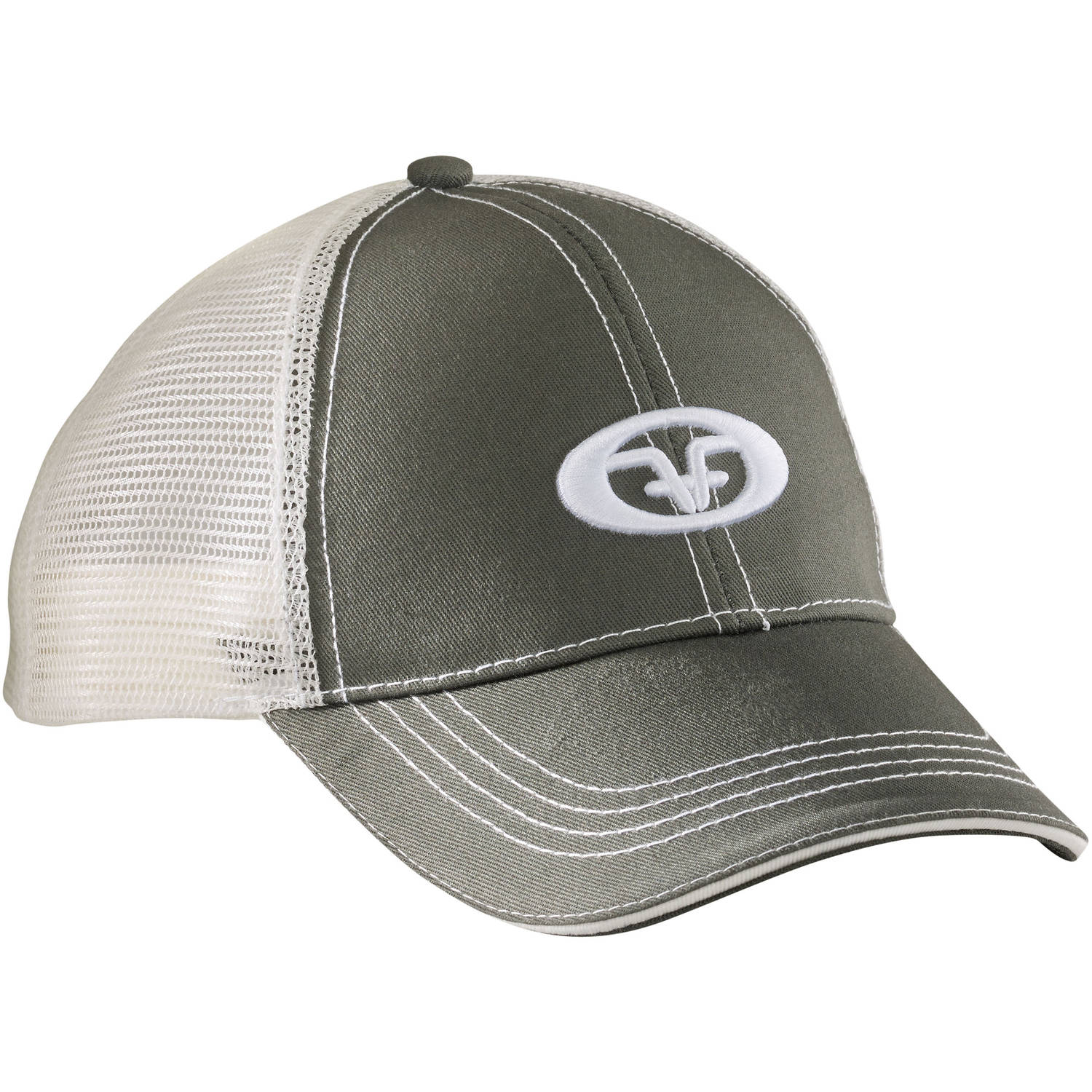 Flying Fisherman H1504 Logo Trucker Cap, Moss-Stone