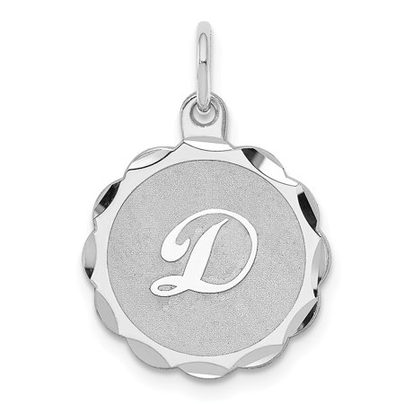 Roy Rose Jewelry Sterling Silver Brocaded Initial Letter D Charm ()