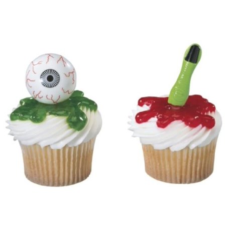 Halloween Eyeballs & Finger Cupcake Picks - 24 Count - National Cake Supply