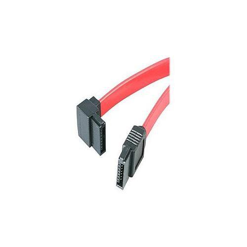 StarTech.com SATA to Left Angle SATA Serial ATA Cable - Serial ATA cable - Serial ATA 150/300 - 7 pin Serial ATA - 7 pin