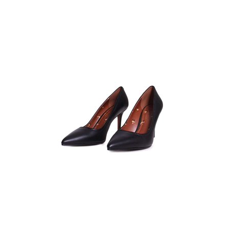 Coach Womens Waverly Leather Pump (85Mm), Black, Size 6.0