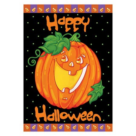 Toland Home Garden Happy Halloween Polyester Flag (Happy Halloween Dachshund)