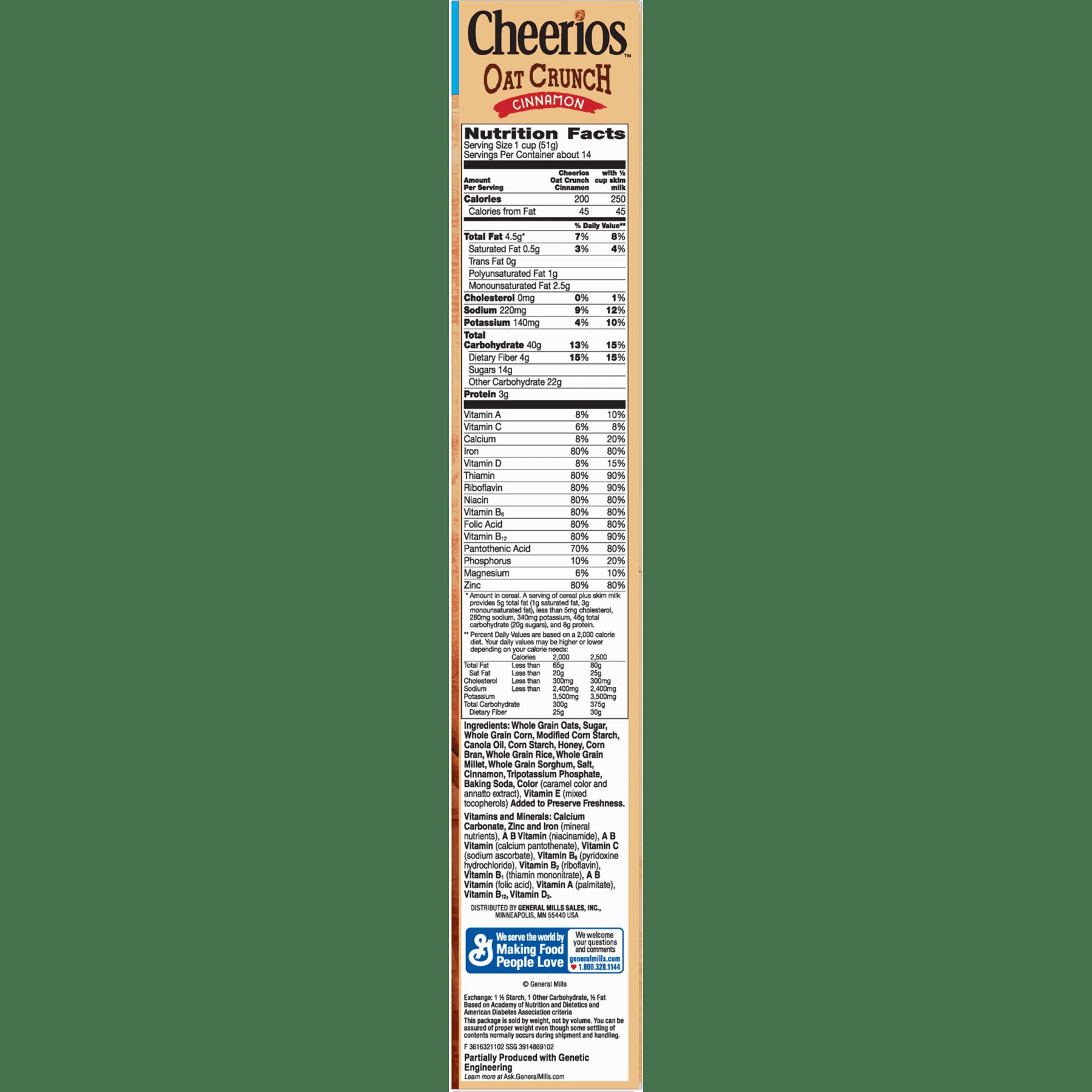 Cheerios Cinnamon Oat Crunch Cereal, 26