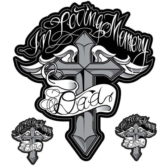 In Loving Memory Car Decals >> Pilot Automotive 6 Inch X 8 Inch In Loving Memory Dad Vehicle Car Decal Stickers